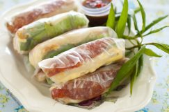 Bo Bia – Vietnamese Spring Rolls with Chinese Sausage, Jicama and Egg